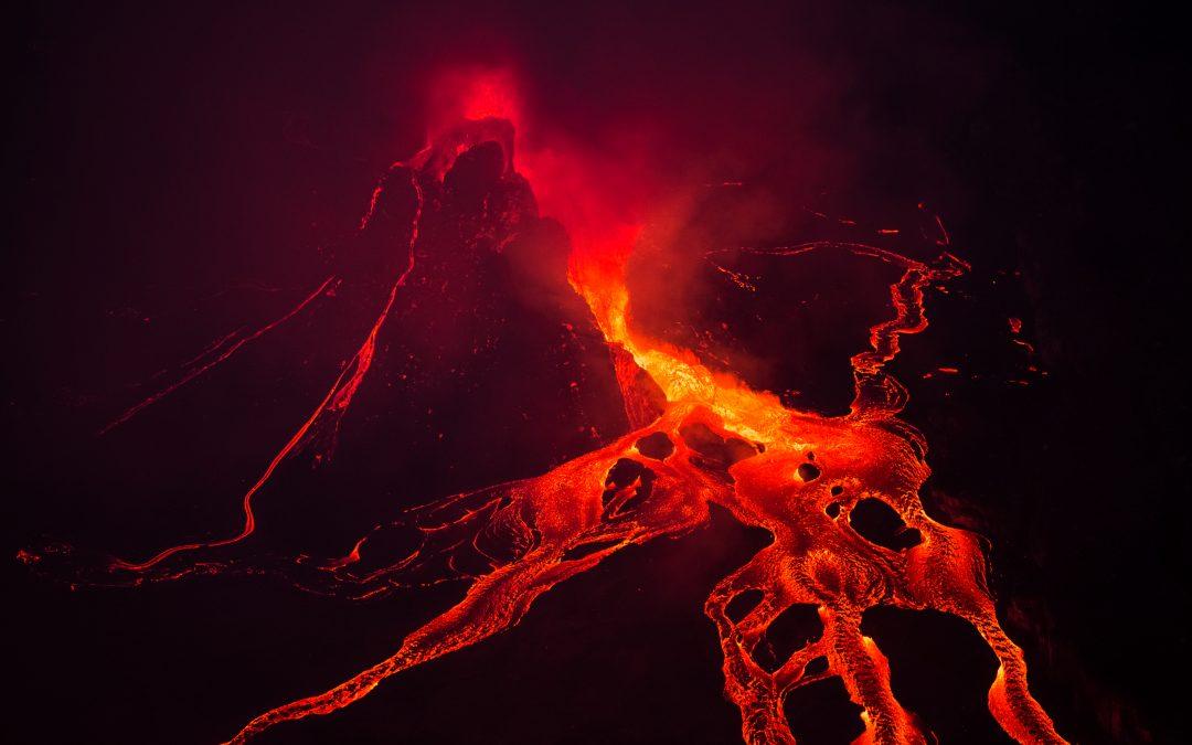 Volcanic devastation in Goma.